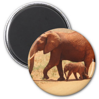 Elephant Mummy and Cub Magnet