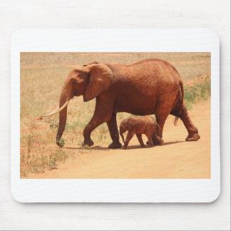 Elephant Mummy and Cub Mouse Pad