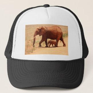 Elephant Mummy and Cub Trucker Hat