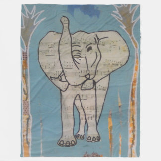 Elephant Music Blanket