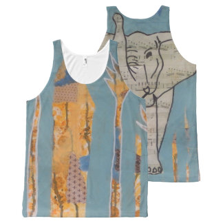 Elephant Music Tank Top All-Over Print Tank Top