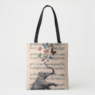 Elephant Music Tote Bag