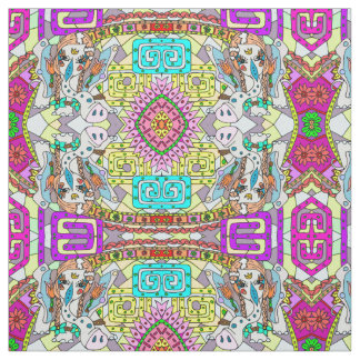 elephant mystic pattern fabric