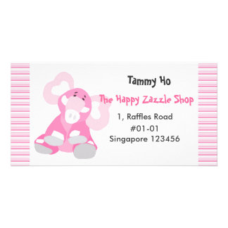 Elephant Namecard Photo Cards