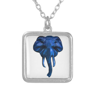 Elephant of courage silver plated necklace