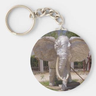 Elephant Of Silver At Kenya Beach Keychain