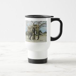 Elephant Oil Painting Travel Mug