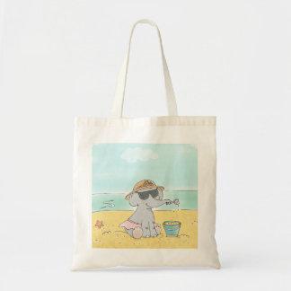Elephant on the beach Tote bag