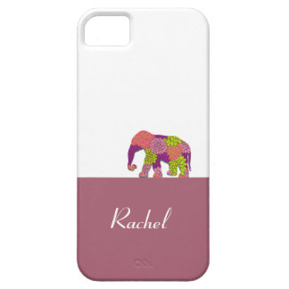 Elephant On the Road (Colorful Flowers) Barely There iPhone 5 Case