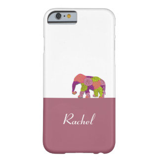 Elephant On the Road (Colorful Flowers) Barely There iPhone 6 Case