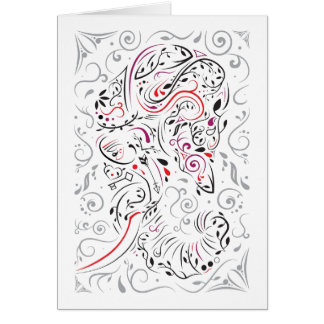 elephant ornate card