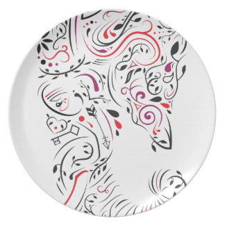 elephant ornate plate