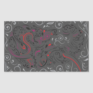 elephant ornate rectangular sticker
