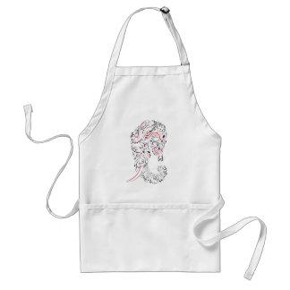 elephant ornate standard apron