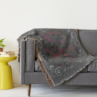 elephant ornate throw blanket