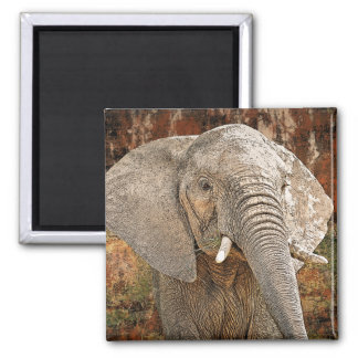 Elephant painting African art Magnet