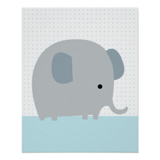 Elephant parade 2 Art Poster