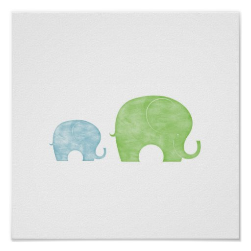 Elephant Parent & Baby Posters