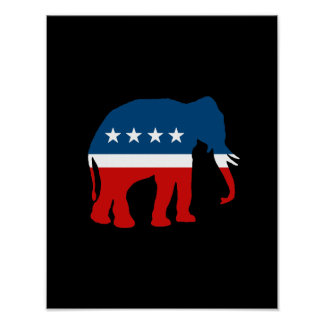 ELEPHANT PARTY POSTERS