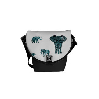 Elephant Pattern Courier Bags