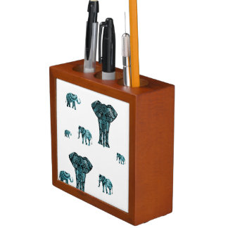 Elephant Pattern Desk Organiser