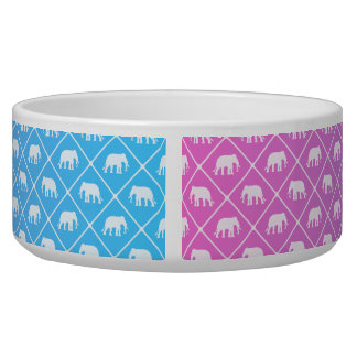 Elephant pattern on blue to pink gradient