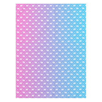 Elephant pattern on blue to pink gradient tablecloth