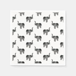 Elephant Pattern Paper Napkin