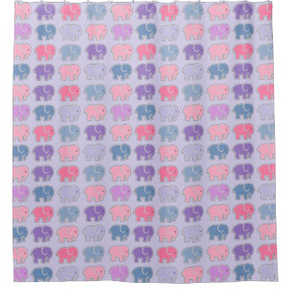 Elephant Pattern Shower Curtain