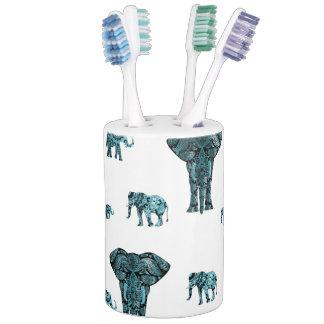 Elephant Pattern Soap Dispenser And Toothbrush Holder