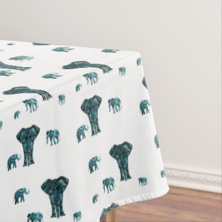 Elephant Pattern Tablecloth