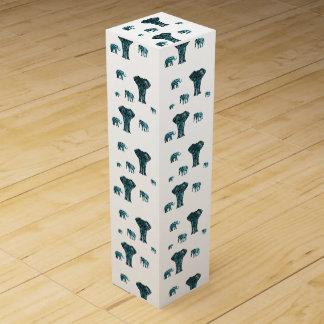 Elephant Pattern Wine Gift Box