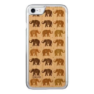 Elephant Pattern Wooden iPhone 6 Carved iPhone 8/7 Case