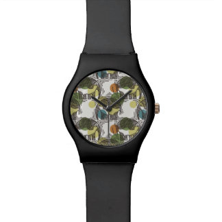 Elephant Pattern Wristwatch