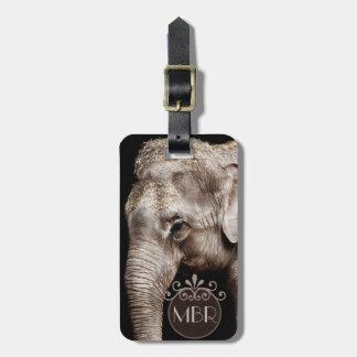 Elephant Photo Image Personalize Monogram Luggage Tag