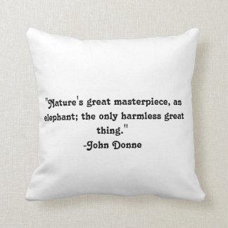 Elephant pillow cushion