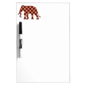 Elephant plaid dry erase board