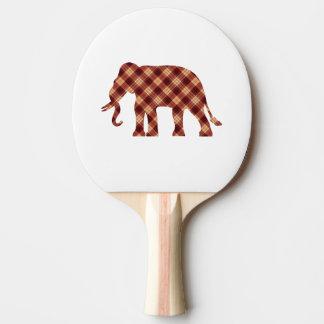 Elephant plaid ping pong paddle