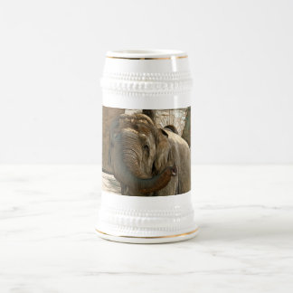 Elephant Pointing Forward with the Trunk Beer Stein