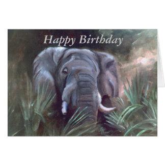 Elephant Portrait Card