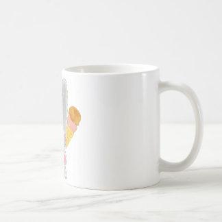 Elephant Princess Ice Cream Basic White Mug