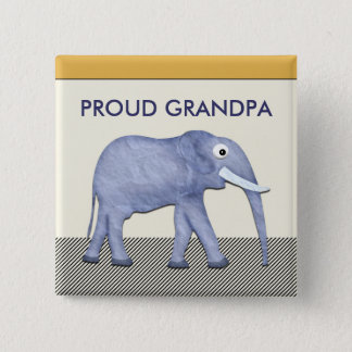 Elephant Proud Grandpa Button