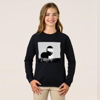 Elephant rain Art- because Girls Raglan Sweatshirt