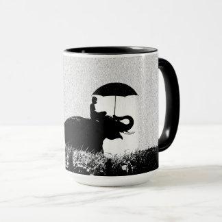 Elephant rain Art- Black 15 oz Combo Mug
