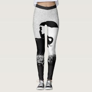 Elephant rain Art- Custom Leggings black