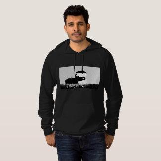Elephant rain Art- Fleece Pullover Hoodie