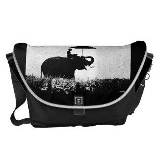 Elephant Rain Art Large Messenger Bag