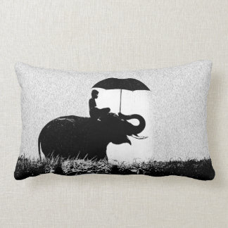Elephant rain Art- Lumbar cushion