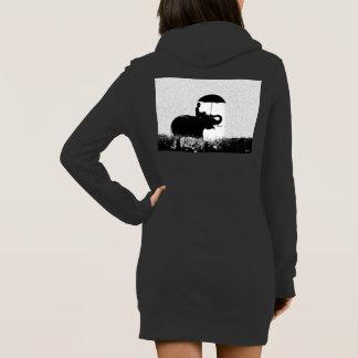 Elephant rain Art- Women's Hoodie Dress