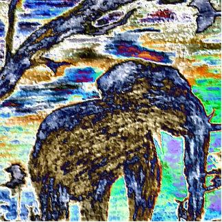 Elephant Rainbow Standing Photo Sculpture